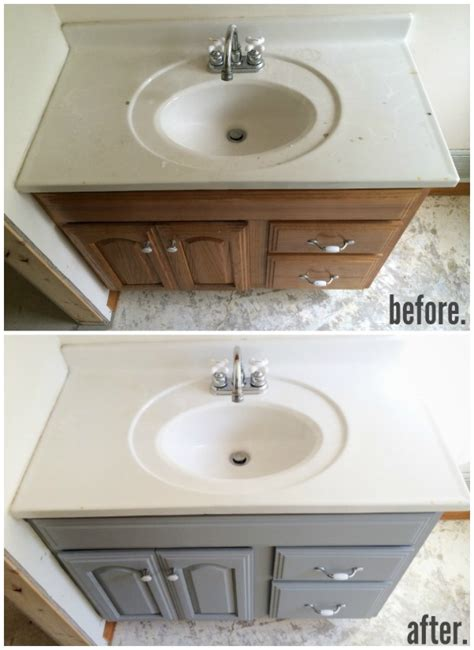 Painting Bathroom Vanity Ideas Painted Bathroom Vanity Michigan House Update Paint Bathroom Vanities Paint Bathroom And