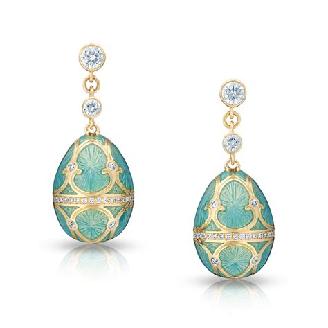 Egg Earring palais tsarskoye selo turquoise earrings faberg 201