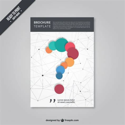 poster design questions brochure with a question mark vector free download