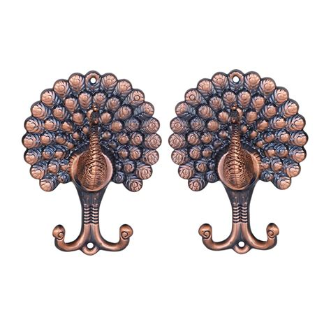 pattern hooks ebay 1 pair of vintage peacock pattern drapery curtain