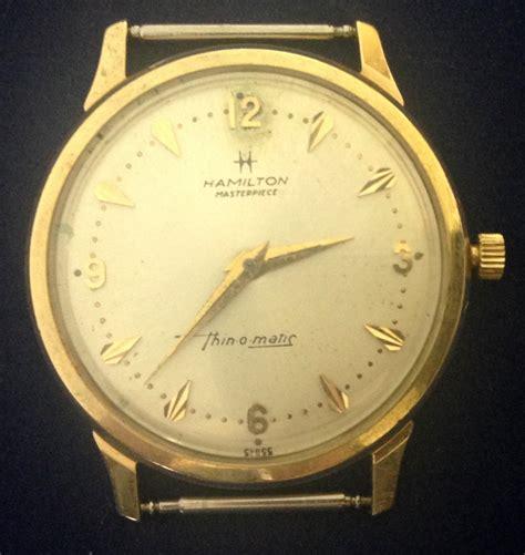 vintage 1968 10k solid gold hamilton masterpiece thin o