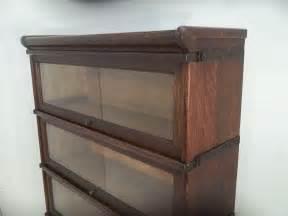 Oak Barrister Bookcase Antique Globe Wernicke 4 Section Oak Barrister Bookcase C