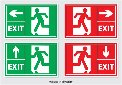 Exit A emergency exit sign free vector 13390 free downloads