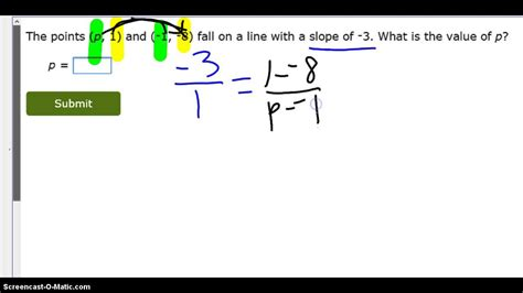 How To Search How To Find A Missing S Coordinate Given The Slope