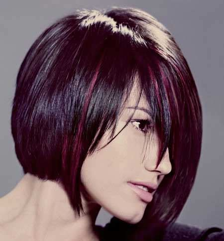 short haircut with red tint and highlights 30 short haircuts with color short hairstyles 2017
