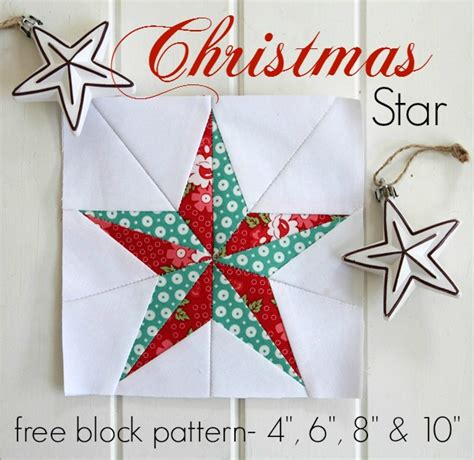 free printable christmas quilt patterns threadbare creations christmas star free quilt block pattern