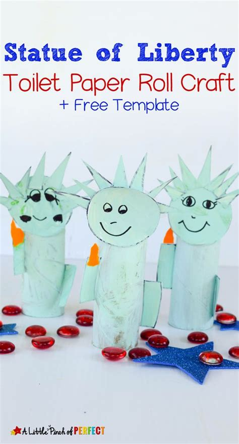 Statue Of Liberty Toilet Paper Roll Craft And Free