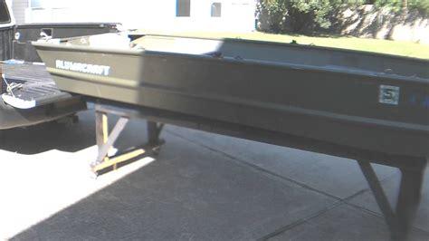 jon boat in truck bed jon boat loading unloading youtube