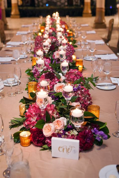 fresh flower table runner 168 best fresh flower table runners weddings images on