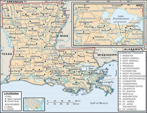 louisiana map state and parish maps of louisiana