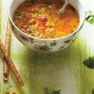 soupe aux lentilles et aux poivrons rouges ricardo