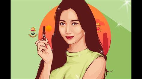 vector vexel portrait photoshop tutorial yura girls day