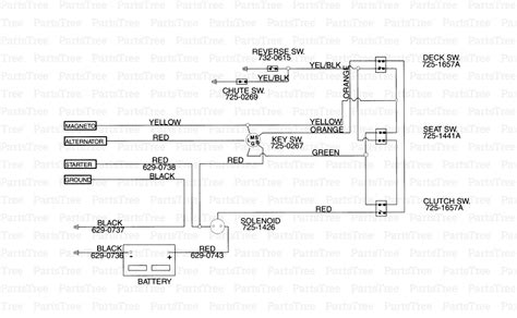 wiring diagram for mtd lawn mower wiring wiring exles