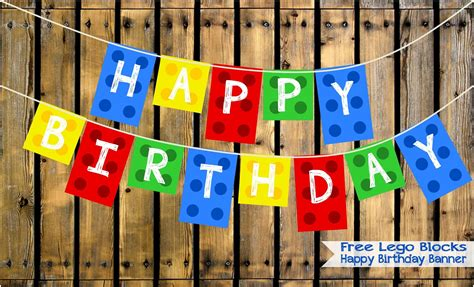 Two Magical Moms Free Lego Blocks Happy Birthday Banner Lego Happy Birthday Banner Template