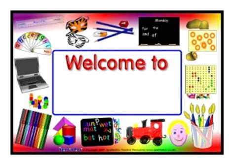 printable primary classroom welcome signs sparklebox