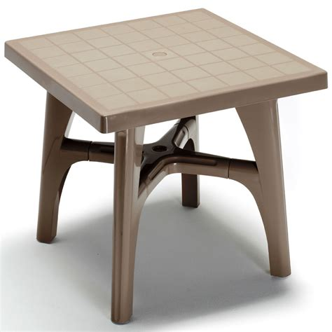 Small Outdoor Table Quadramax 80cm Square Table Garden Small Plastic Table