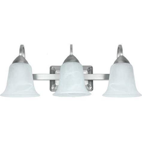 menards bathroom light fixtures patriot lighting 21 3 4 quot brushed nickel led 3 light
