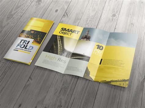 high res tri fold brochure mockups by v design bundles