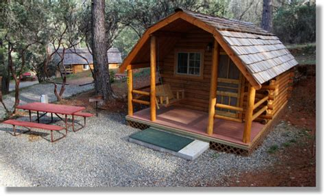 Two Bedroom Cottage by Cabin At The Koa Campground In Midpines California