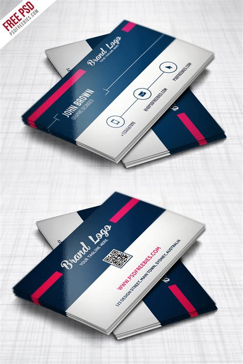 busness card template layout psd modern business card design template free psd
