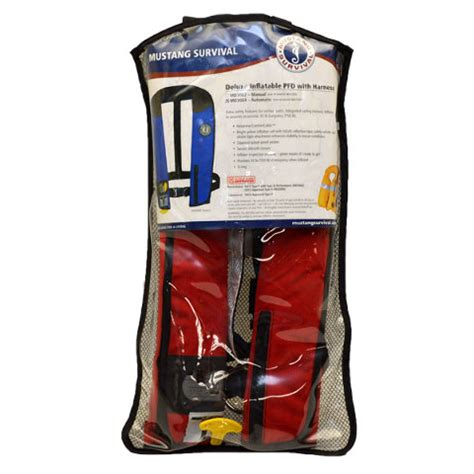 Mustang Automatic Life Jackets by Mustang Survival Md3084 Automatic Deluxe Inflatable Pfd