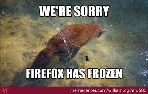 Lake Meme - walking across a frozen lake when suddenly a dead fox by