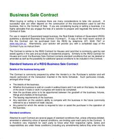 Free Business Sale Contract Template Sample Sales Contract 7 Documents In Pdf Word