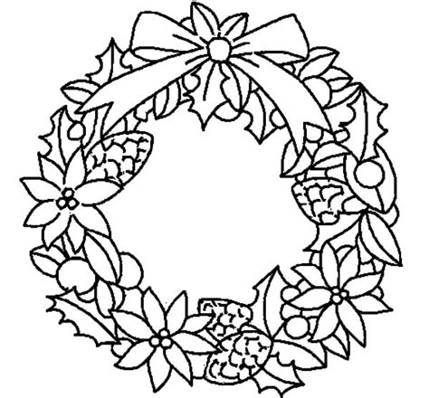 flower wreath coloring page christmas wreaths flowers free coloring pages