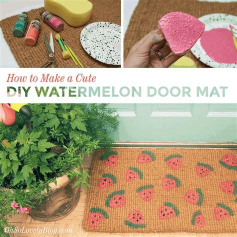 tutorial       diy watermelon outdoor mat