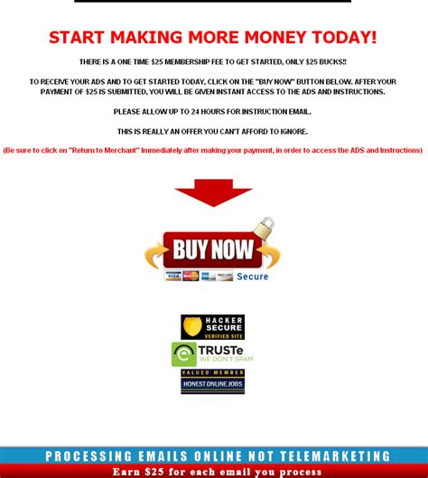 Start Making Money Online Today - start making money today email processing systems