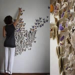 craft decorating ideas your home diy decorar paredes con mariposas de papel bricoinventos