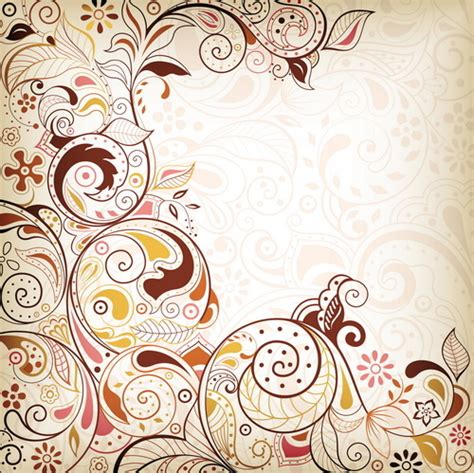 pattern vector background eps free vectors decorative floral vector free vector download