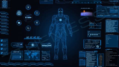 "???? ""Stark Industries v.0.2"" ??? Rainmeter"