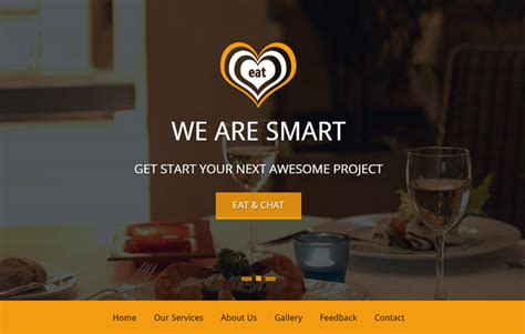 bootstrap themes free restaurant restaurant bootstrap template free download webthemez