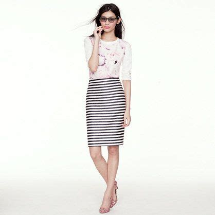 20752 Import Cotton Casual Top Big Stripe 17 best images about b w striped pencil skirt on