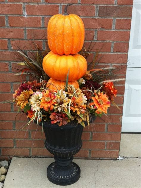 fall decorations simple outdoor urns fall decor