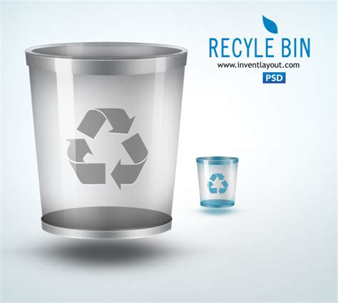 layout bin download recycle bin icon download free psd graphics