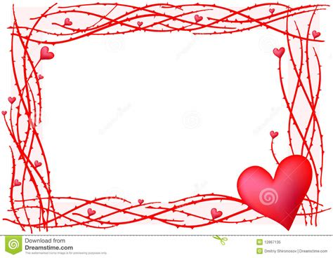 How To Read Plans by Red Valentine Frame Royalty Free Stock Photo Image 12867135