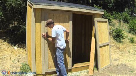 build  lean  shed part  double door build