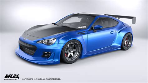 subaru brz gt300 body kit ml24 automotive design prototyping and body kits