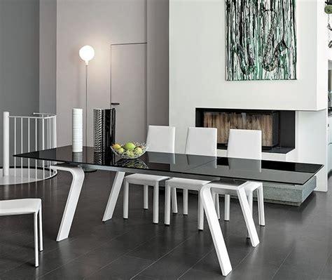 tavolo vetro nero allungabile target tavolo tavolo allungabile moderno piano in