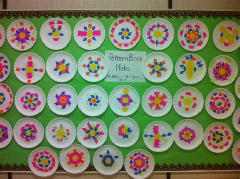 pattern block activities preschool pattern block plates math art grade 2 pattern blocks