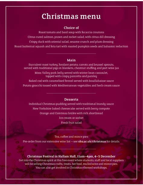 best new christmas menus cool menu template free