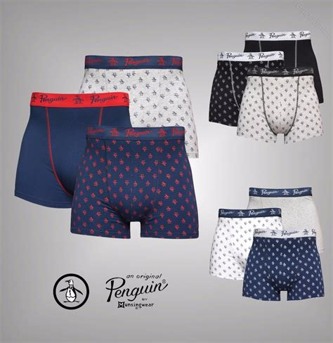 3 Pack Jersey Boxers 3 pack mens original penguin stretch jersey boxer shorts