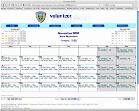volunteer calendar template the volunteer gateway