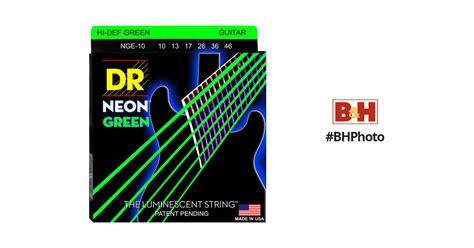 Hello Vorhänge 444 by Dr Strings Neon Hi Def Green Coated Electric Guitar Nge 10 B H