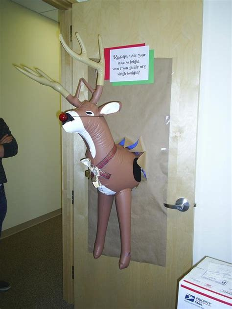office christmas door ideas door decorations