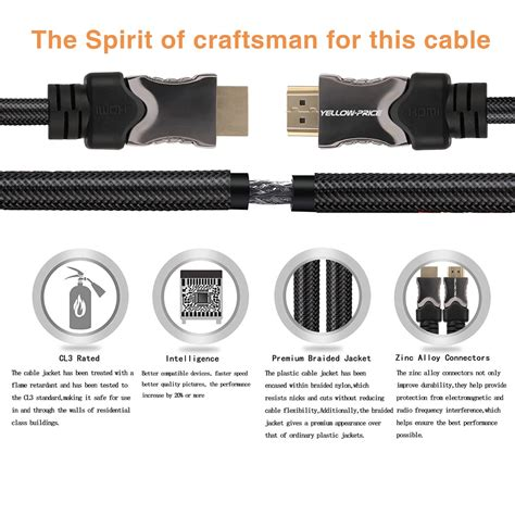 hdmi 2 1 48gbps cable speed 48gbps uhd 8k 240hz braided hdmi 2 1 cable