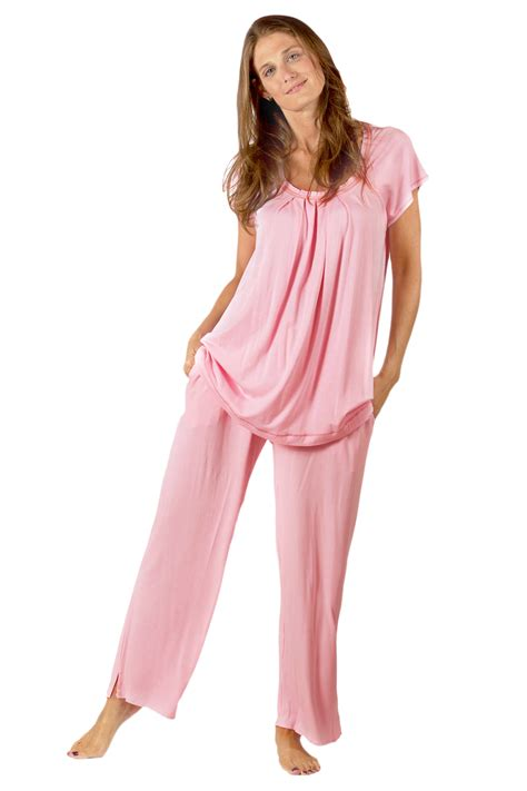 pi xs man in lingerie at beauty salon bamboo bliss women s bamboo pajamas by texeresilk