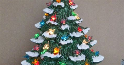 Vintage Ceramic Christmas Tree Electric Plastic Bird Bulbs Plastic Light Bulbs For Ceramic Trees